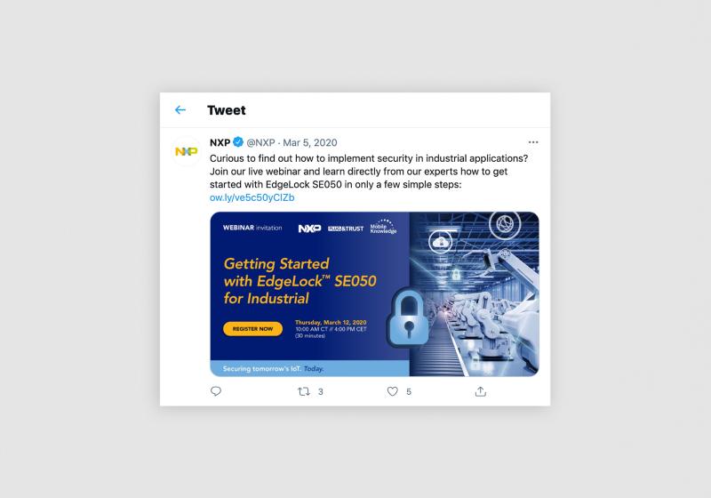 Edge Lock SE050 by NXP | social media visual by Flair Creatives