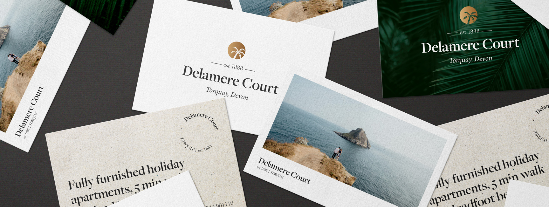 Stationery design for Delamere Court by Flair Creatives