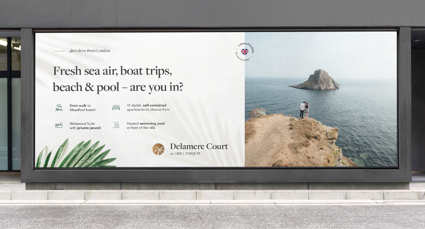 Delamere Court large format advertising by Flair Creatives