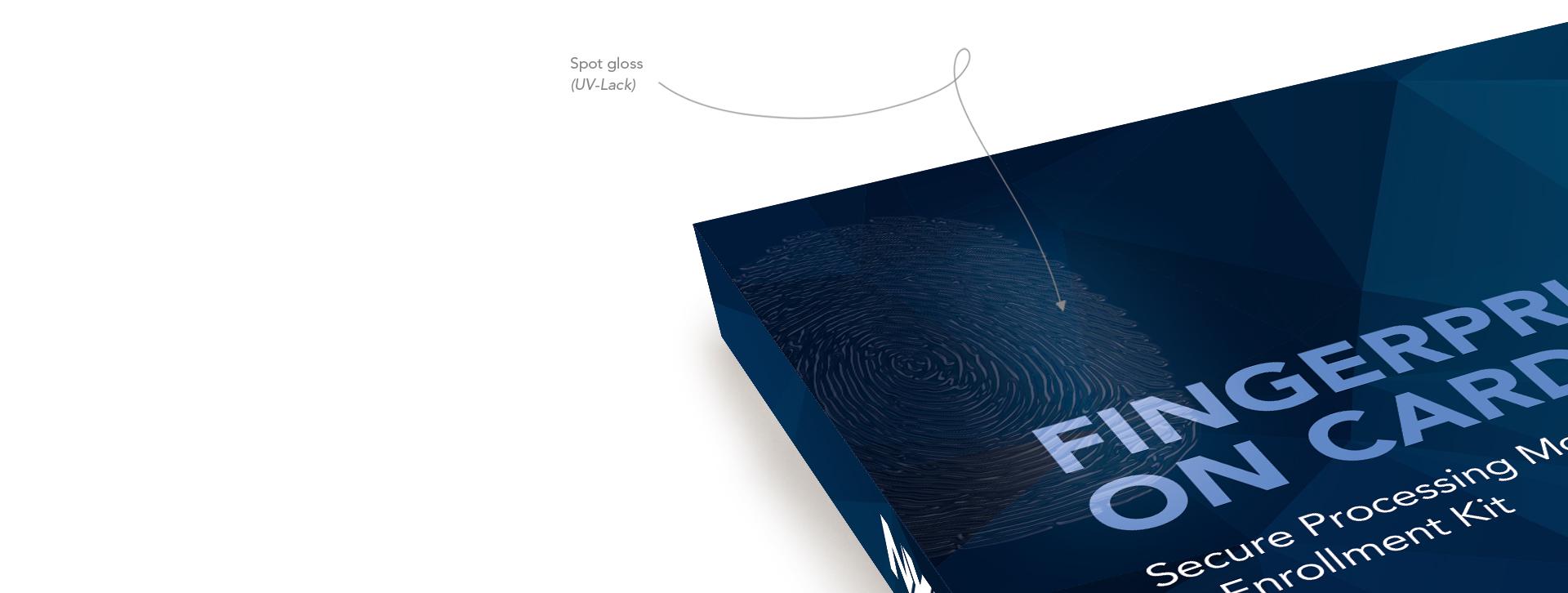 Fingerprint on Card NXP Technology packaging by Flair Creatives