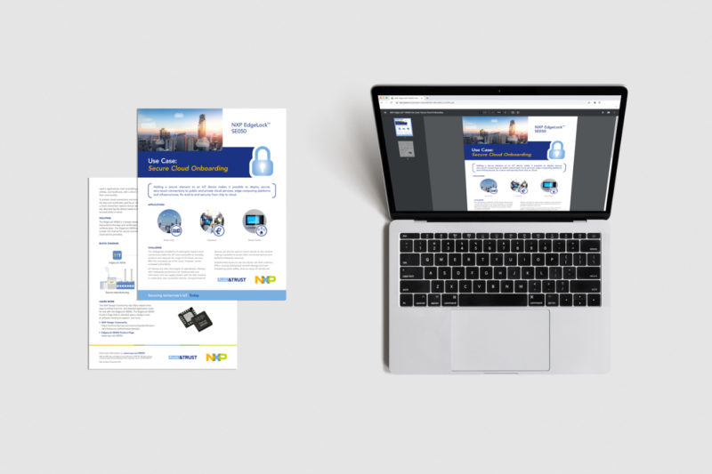 EdgeLock SE050 use case print and web files designed by Flair Creatives